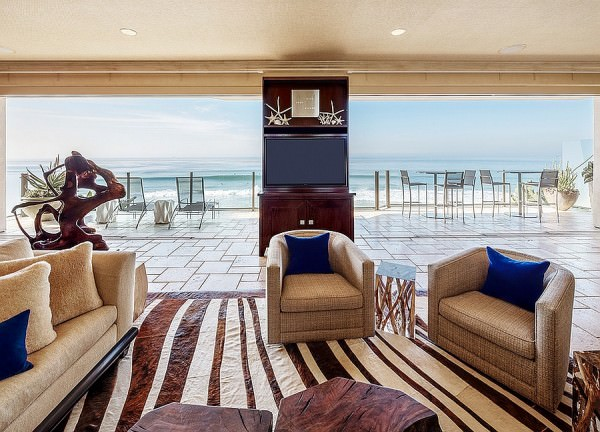 Stunning-ocean-view-from-the-living-room-with-coastal-and-tropical-styles
