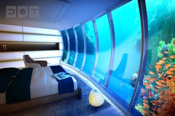 Underwater-sea-themed-hotel-room
