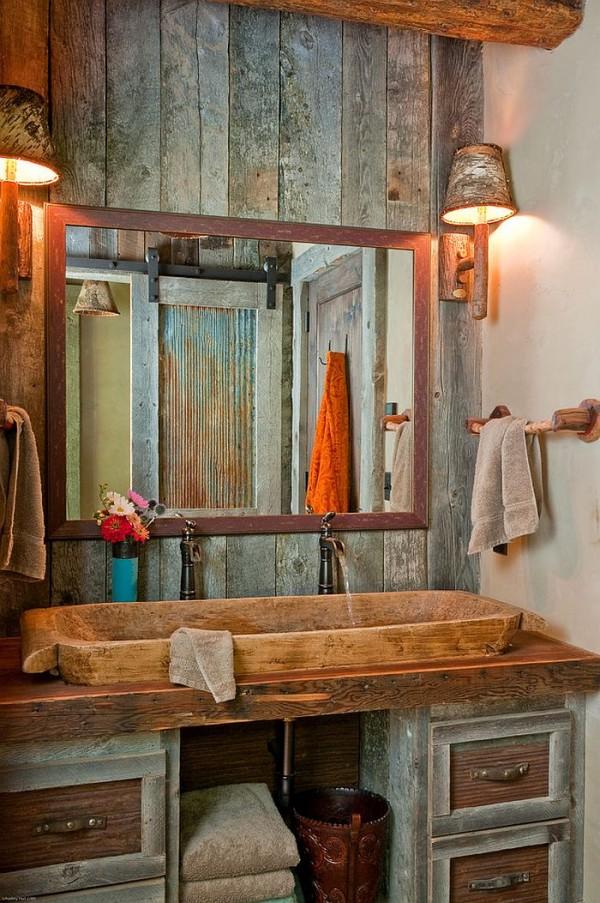 Vanity-of-the-rustic-bathroom-draped-in-wood