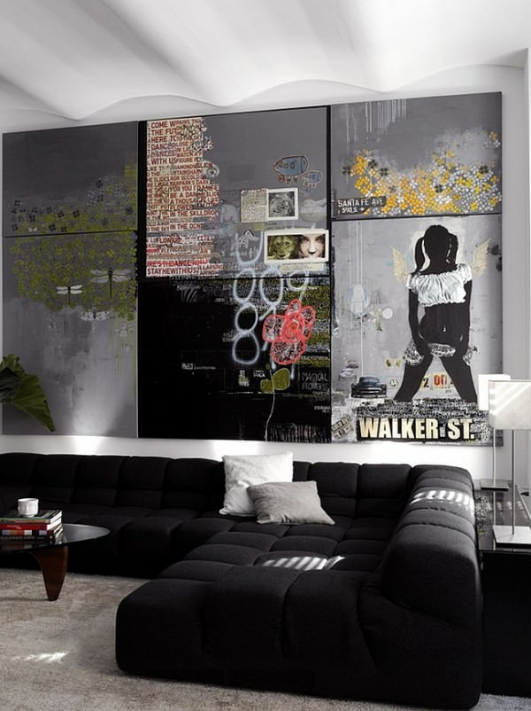 Wall-art-and-ceiling-give-the-room-a-urbane-appeal