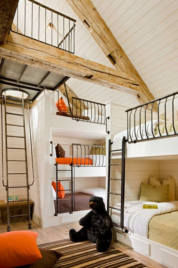 Wooden-beams-give-the-bedroom-a-rustic-touch