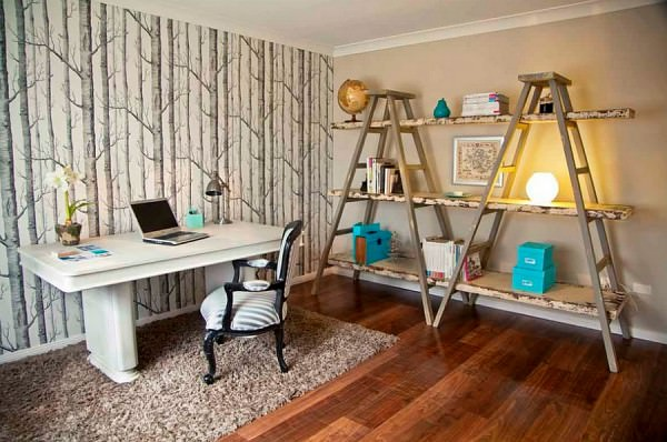 Woodsy-wallpaper-is-a-great-addition-to-the-home-office