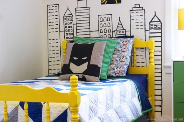 batman-washi-tape-wall
