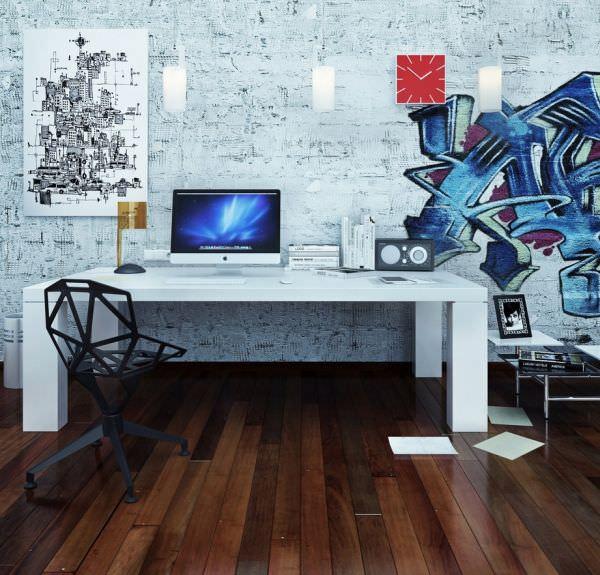 birou luminat modern