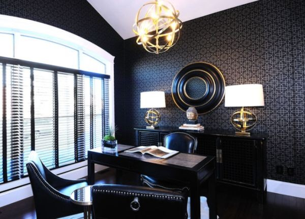 black-office-design