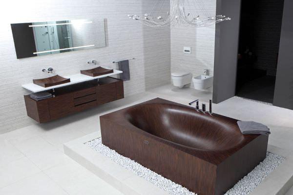 cada de baie din lemn