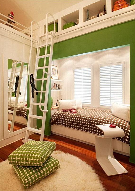 camera pentru copii cu pat incorporat