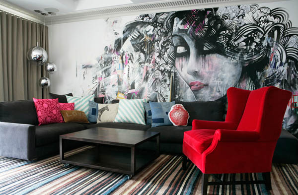 colorful-living-room-with-crazy-wallpaper