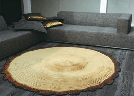 covor inele copac