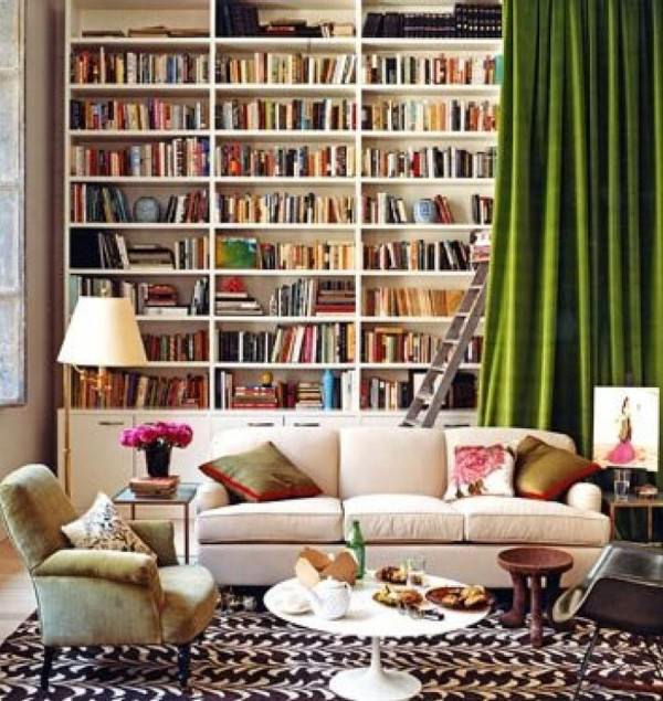 curtains-home-library