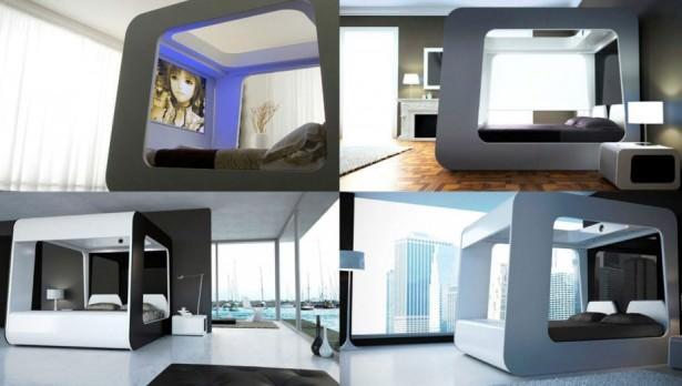 dormitor futurist