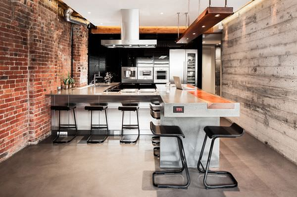 exposed-bricks-wall-for-kitchen
