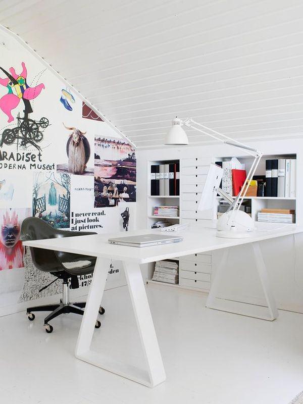 feminine-attic-office-design