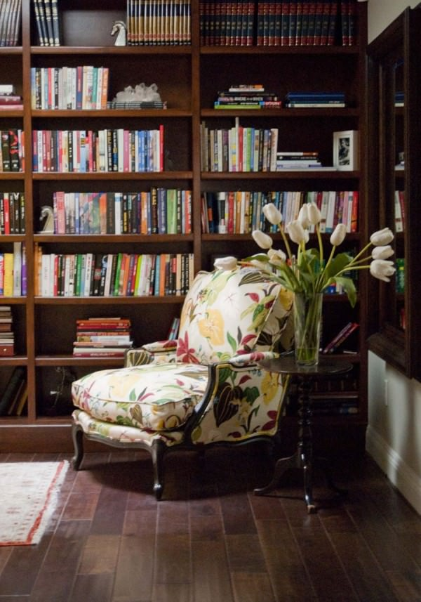 home-library-living-room-details