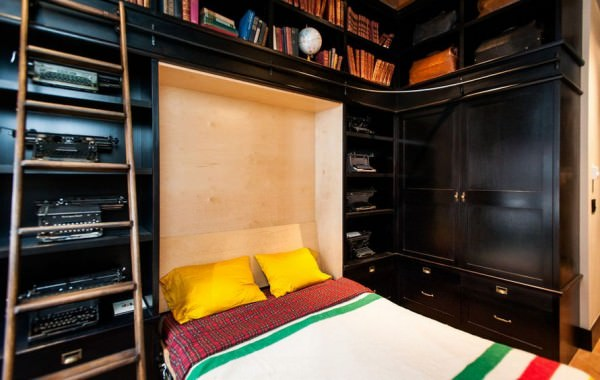 murpy-bed-and-library-room