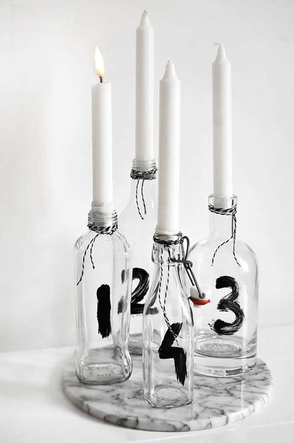 number-wine-bottle-candle