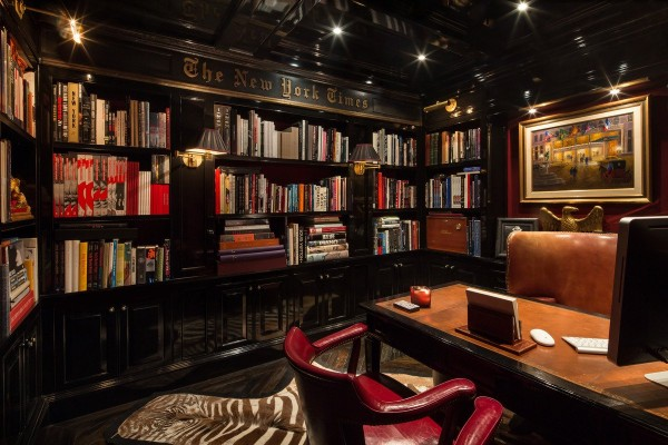 of-course-theres-also-a-wood-paneled-library-the-wall-is-engraved-with-the-new-york-times