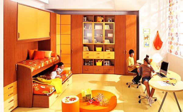 orange-Teenage-Boys-Rooms