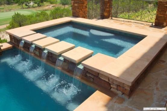Piscine exterioare 20 de super idei de amenajare fresh home for Cat costa construirea unei piscine