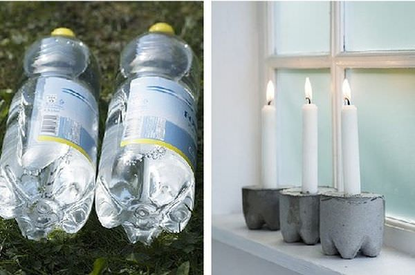 plastic-bottles-candle-holder