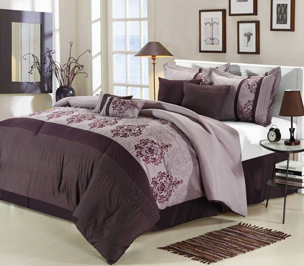 purple-red-bedding-set