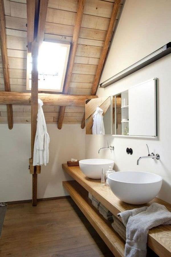 rustic-wood-attic-bathroom