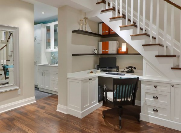 traditional-understairs-office-desk