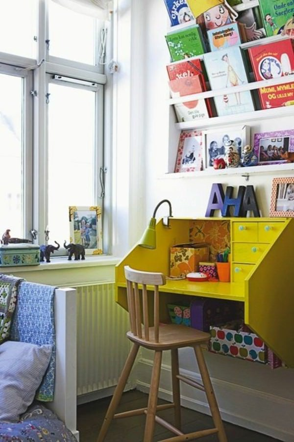 yellow-childern-desk