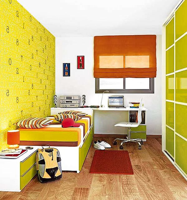 yellow-green-teenager-boys-bedroom